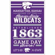 Kansas State Wildcats Established Wood Sign