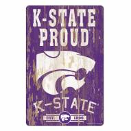 Kansas State Wildcats Slogan Wood Sign