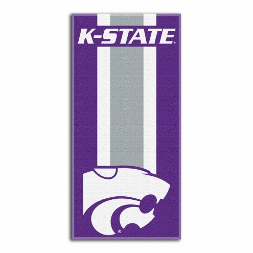 Kansas State Wildcats Zone Read Beach Towel