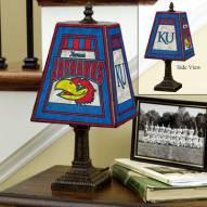 Kansas Jayhawks NCAA Hand-Painted Art Glass Table Lamp