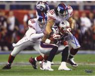 Kawika Mitchell SB XLII Tackling Stallworth 8 x 10 Photo