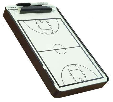 KBA Basketball Coaches Clipboard Playmaker & Case