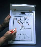 KBA Magnetic Basketball Playmaker Coaches Clipboard
