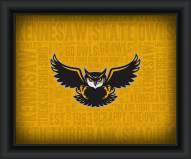 Kennesaw State Owls Framed Word Cloud