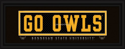 """Kennesaw State Owls """"Go Owls"""" Stitched Jersey Framed Print"""