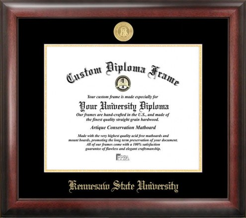 Kennesaw State Owls Gold Embossed Diploma Frame