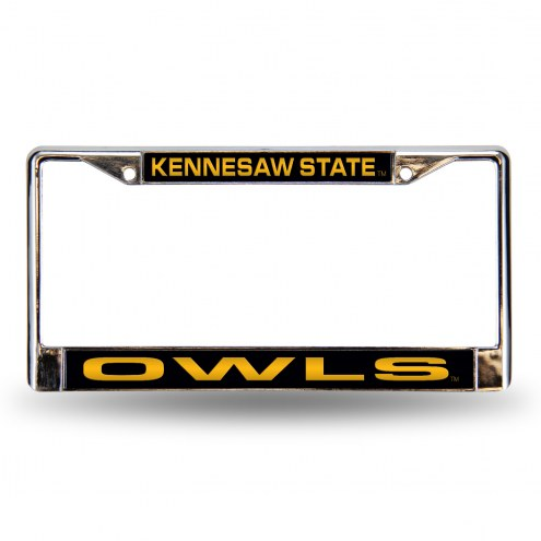 Kennesaw State Owls Laser Chrome License Plate Frame