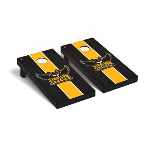 Kennesaw State Owls Onyx Stained Cornhole Game Set