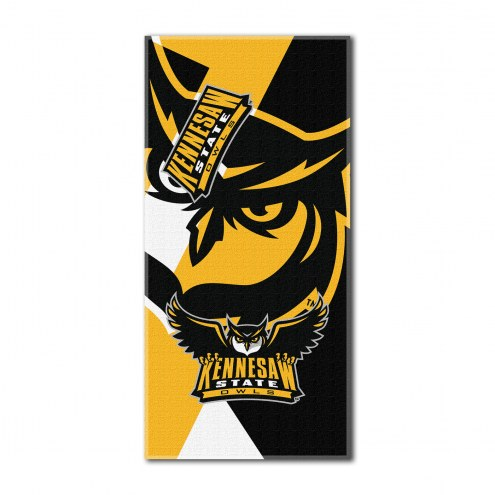 Kennesaw State Owls Puzzle Beach Towel