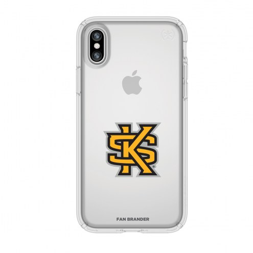 Kennesaw State Owls Speck iPhone X Presidio Clear Case