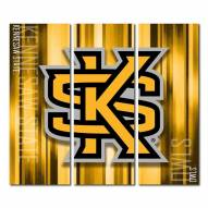 Kennesaw State Owls Triptych Rush Canvas Wall Art