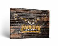 Kennesaw State Owls Weathered Canvas Wall Art