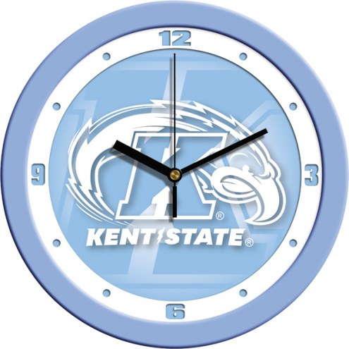 Kent State Golden Flashes Baby Blue Wall Clock