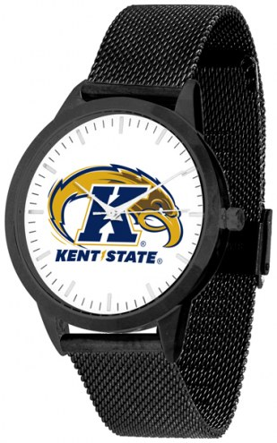 Kent State Golden Flashes Black Mesh Statement Watch
