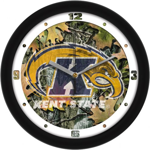 Kent State Golden Flashes Camo Wall Clock