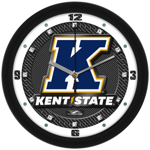 Kent State Golden Flashes Carbon Fiber Wall Clock