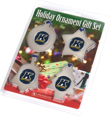 Kent State Golden Flashes Christmas Ornament Gift Set