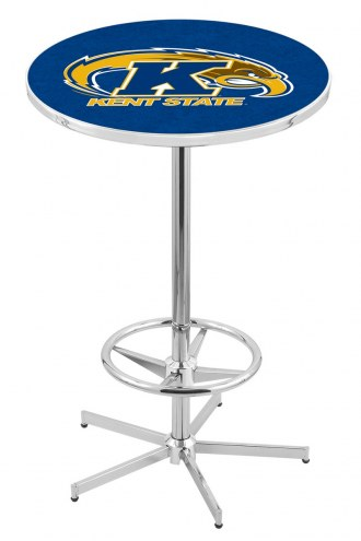 Kent State Golden Flashes Chrome Bar Table with Foot Ring