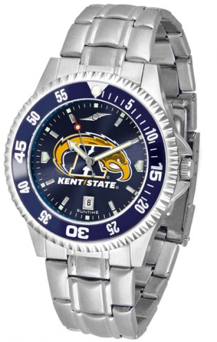 Kent State Golden Flashes Competitor Steel AnoChrome Color Bezel Men's Watch