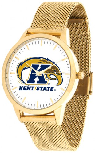 Kent State Golden Flashes Gold Mesh Statement Watch