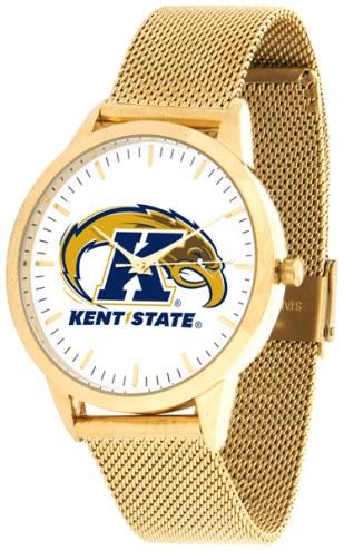 Kent State Golden Flashes Gold Mesh Statement Watch