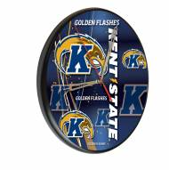 Kent State Golden Flashes Digitally Printed Wood Clock