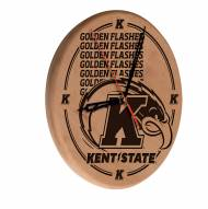 Kent State Golden Flashes Laser Engraved Wood Clock