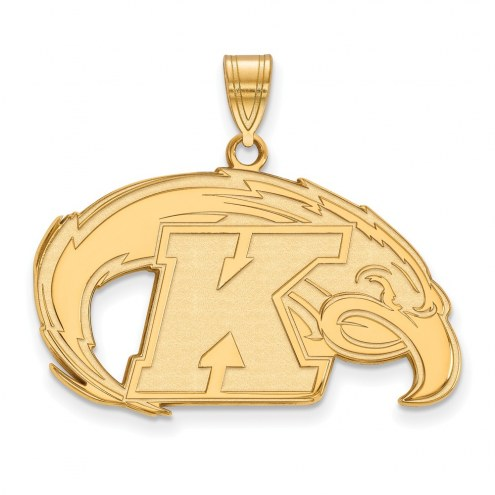 Kent State Golden Flashes NCAA Sterling Silver Gold Plated Large Pendant