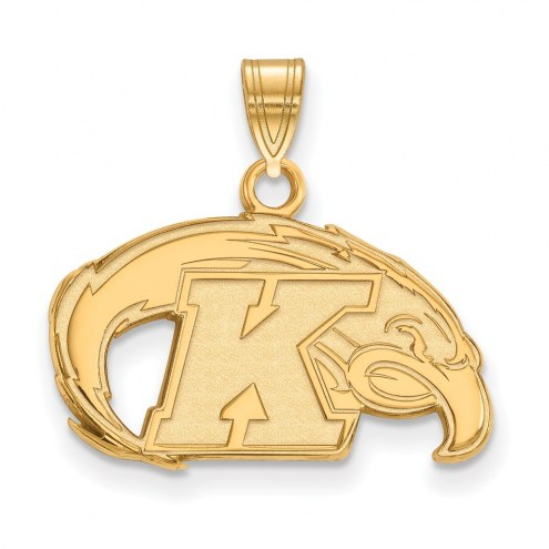 Kent State Golden Flashes NCAA Sterling Silver Gold Plated Small Pendant