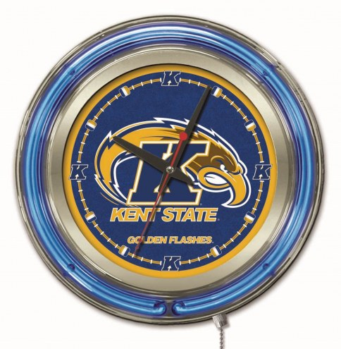 Kent State Golden Flashes Neon Clock