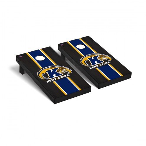 Kent State Golden Flashes Onyx Stained Cornhole Game Set