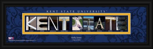 Kent State Golden Flashes Personalized Campus Letter Art