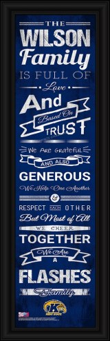 Kent State Golden Flashes Personalized Family Cheer Framed Art