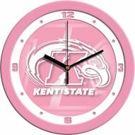 Kent State Golden Flashes Pink Wall Clock