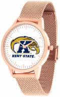 Kent State Golden Flashes Rose Mesh Statement Watch
