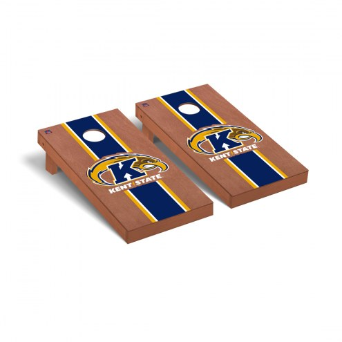 Kent State Golden Flashes Rosewood Stained Cornhole Game Set