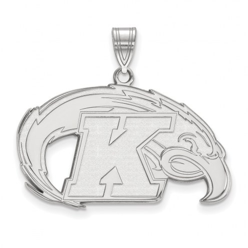 Kent State Golden Flashes Sterling Silver Large Pendant