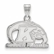 Kent State Golden Flashes Sterling Silver Small Pendant