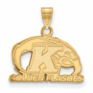 Kent State Golden Flashes Sterling Silver Gold Plated Small Pendant