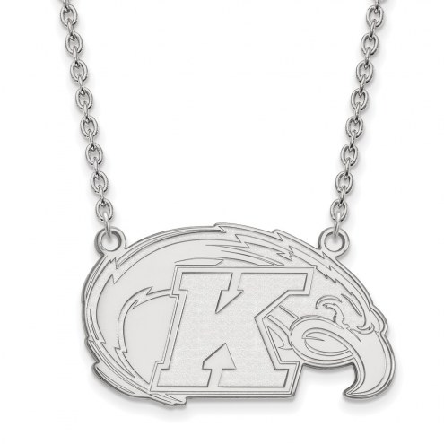 Kent State Golden Flashes Sterling Silver Large Pendant Necklace