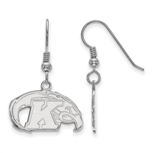 Kent State Golden Flashes Sterling Silver Small Dangle Earrings
