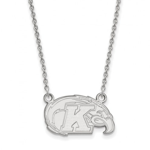 Kent State Golden Flashes Sterling Silver Small Pendant Necklace
