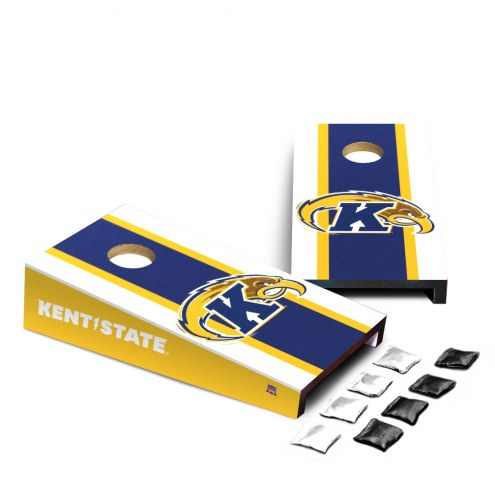 Kent State Golden Flashes Mini Cornhole Set
