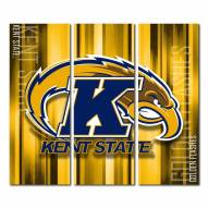 Kent State Golden Flashes Triptych Rush Canvas Wall Art