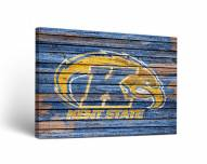 Kent State Golden Flashes Weathered Canvas Wall Art
