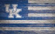 "Kentucky Wildcats 11"" x 19"" Distressed Flag Sign"