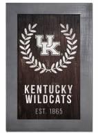 "Kentucky Wildcats 11"" x 19"" Laurel Wreath Framed Sign"