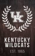 """Kentucky Wildcats 11"""" x 19"""" Laurel Wreath Sign"""