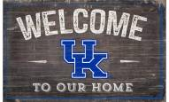 "Kentucky Wildcats 11"" x 19"" Welcome to Our Home Sign"