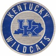 "Kentucky Wildcats 12"" Circle with State Sign"
